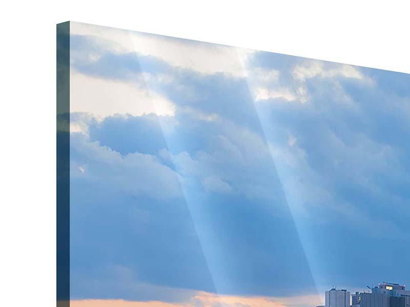 Acrylglasbild 3-teilig modern Skyline Frankfurt am Main