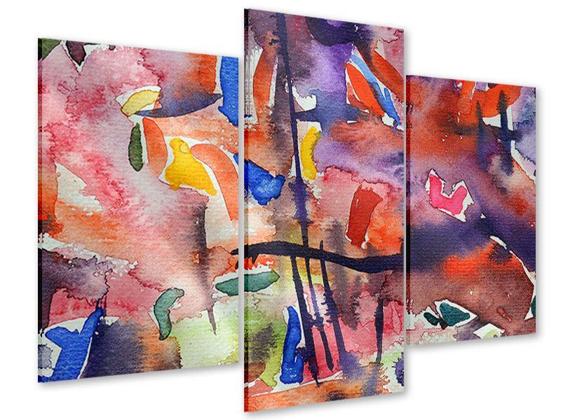 Acrylglasbild 3-teilig modern Aquarell