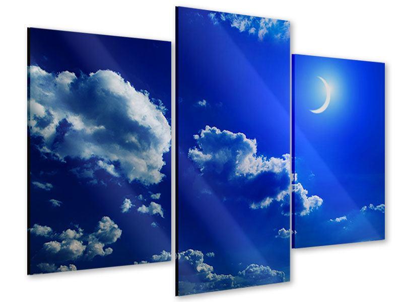 Acrylglasbild 3-teilig modern Der Mond