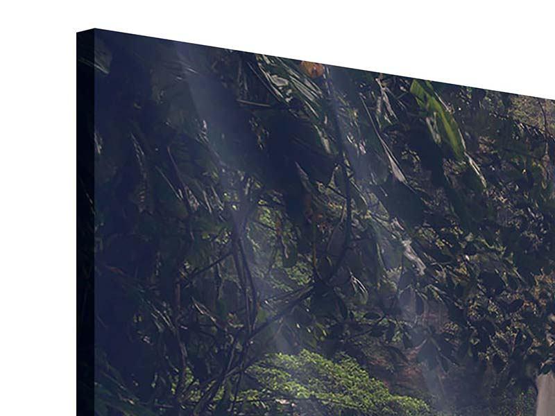 Acrylglasbild 3-teilig modern Wasserfall in Mexiko