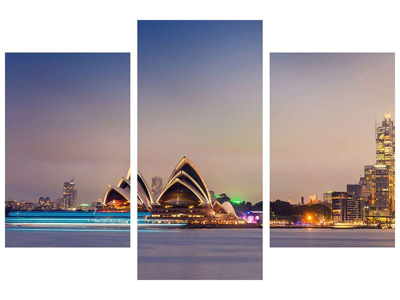 Acrylglasbild 3-teilig modern Opera House