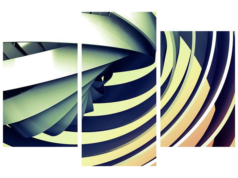Acrylglasbild 3-teilig modern Abstrakte Perspektiven