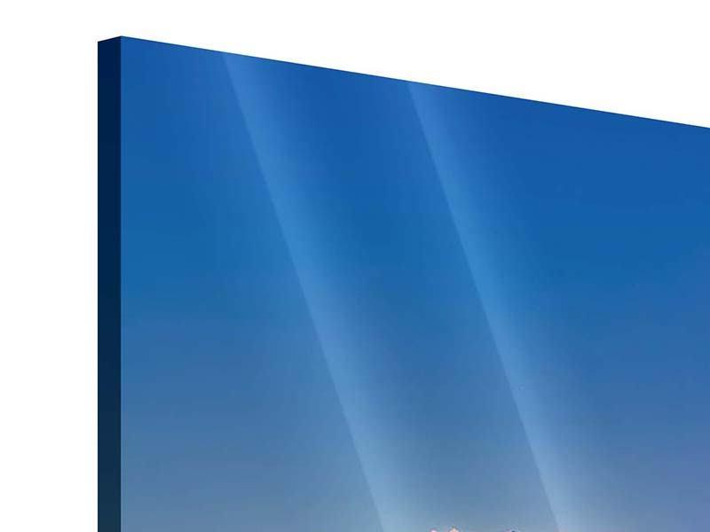 Acrylglasbild 3-teilig modern Skyline One Night in Bangkok