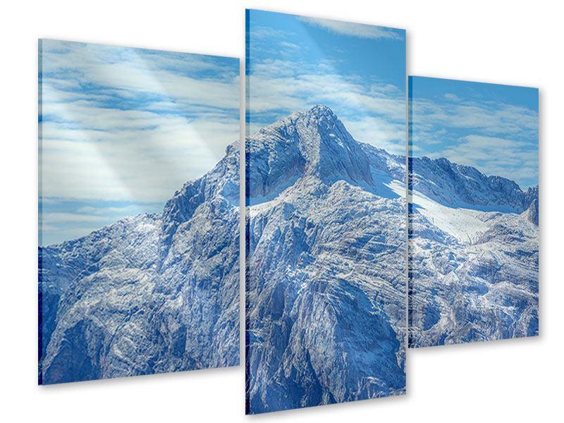 Acrylglasbild 3-teilig modern Friedliche Bergstimmung