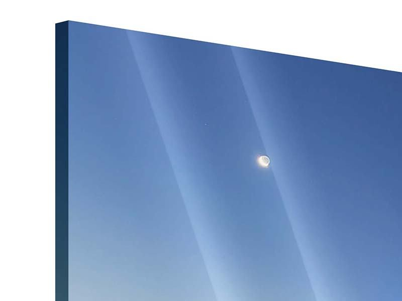 Acrylglasbild 3-teilig modern Skyline Sydney in der Abenddämmerung