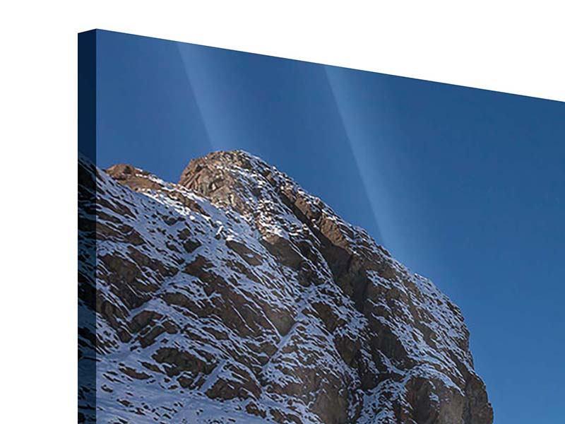 Acrylglasbild 3-teilig modern Der Riffelsee am Matterhorn