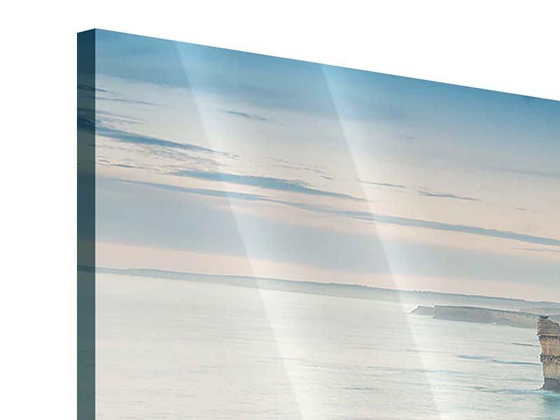Acrylglasbild 3-teilig modern Felsklippen