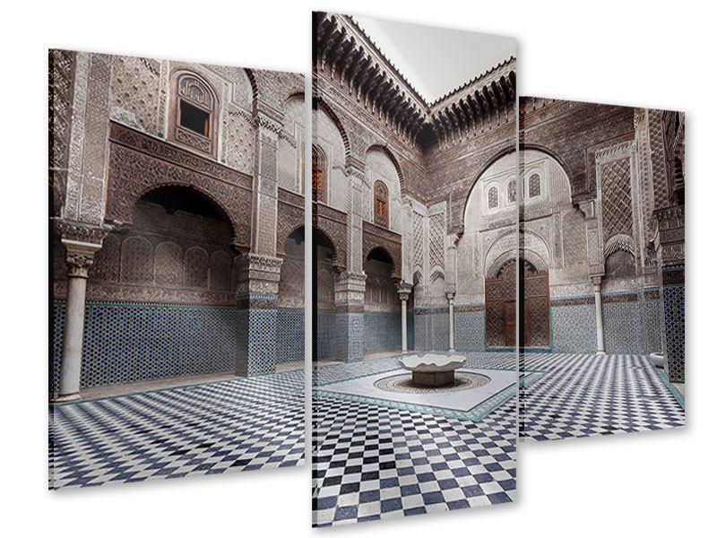 Acrylglasbild 3-teilig modern Orientalischer Hinterhof