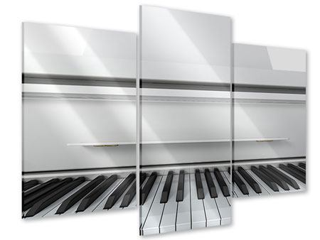 Acrylglasbild 3-teilig modern Weisser Flügel