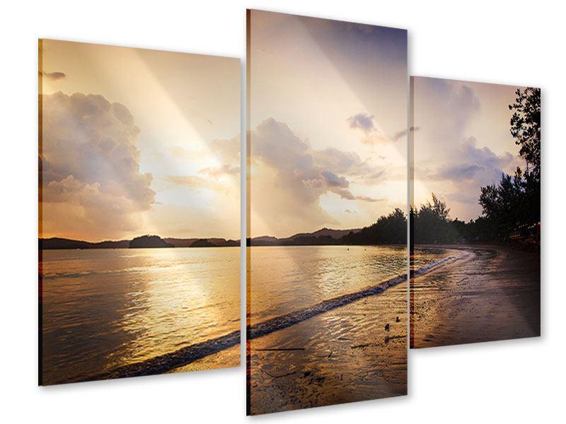 Acrylglasbild 3-teilig modern Das Ufer
