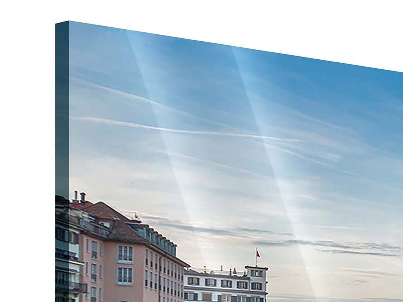 Acrylglasbild 3-teilig modern Kosmopolitisches Zürich