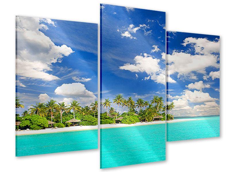 Acrylglasbild 3-teilig modern Meine Insel
