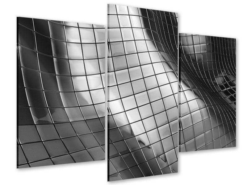 Acrylglasbild 3-teilig modern Abstrakter Stahl