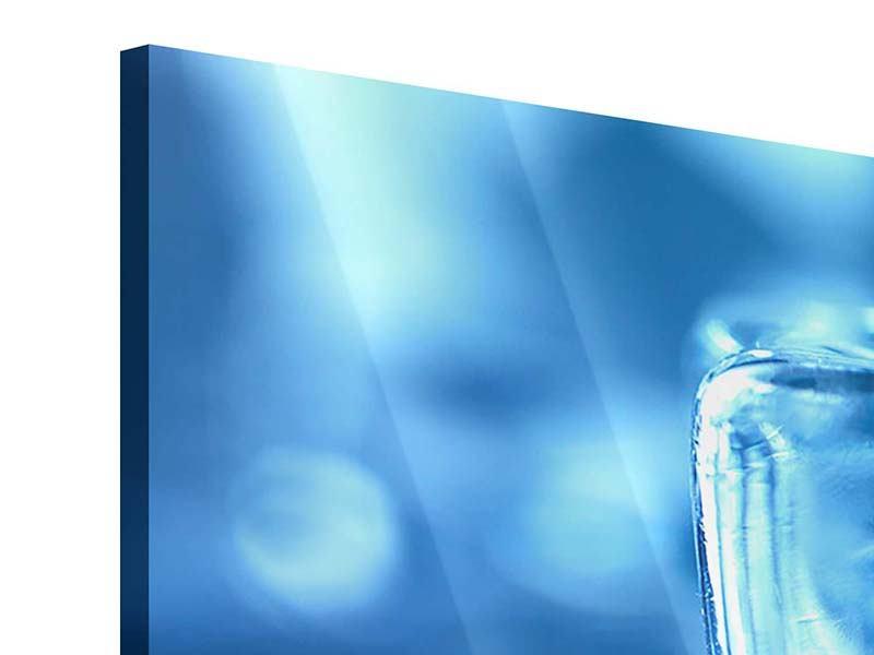 Acrylglasbild 3-teilig modern Eiswürfel XXL