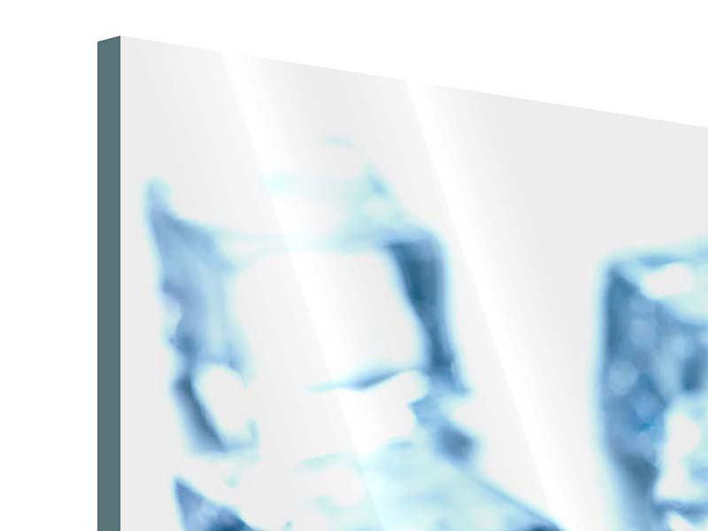 Acrylglasbild 3-teilig modern Viele Eiswürfel