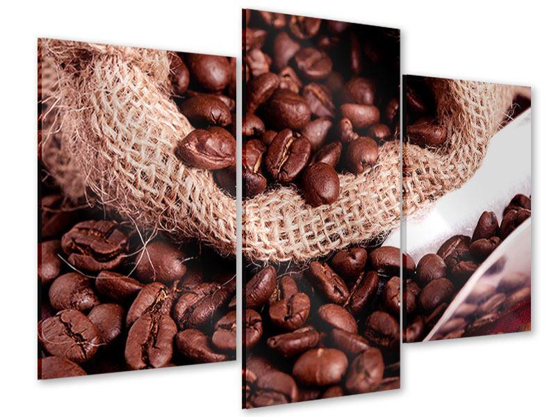 Acrylglasbild 3-teilig modern XXL Kaffeebohnen