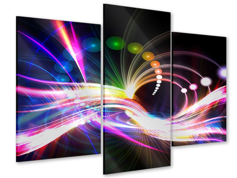 Acrylglasbild 3-teilig modern Abstrakte Lichtreflexe