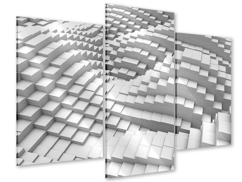 Acrylglasbild 3-teilig modern 3D-Elemente