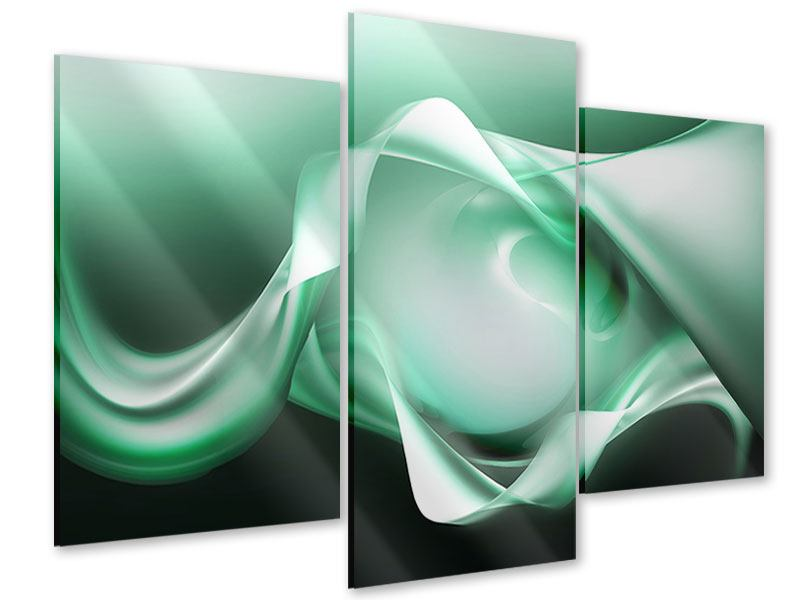 Acrylglasbild 3-teilig modern Abstrakt Tuchfühlung