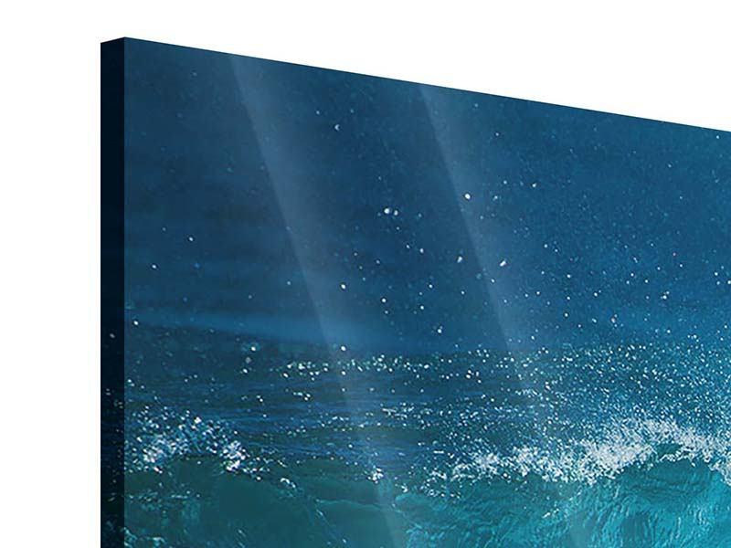 Acrylglasbild 3-teilig modern Die perfekte Welle