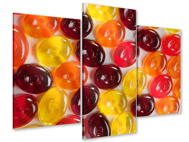 Acrylglasbild 3-teilig modern Bonbons