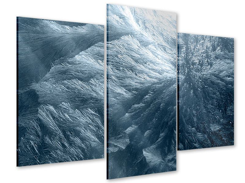 Acrylglasbild 3-teilig modern Eis