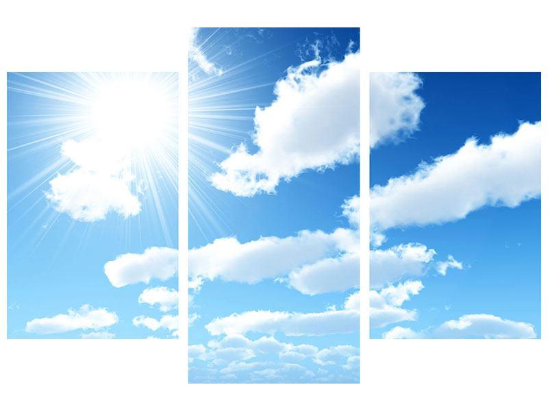 Acrylglasbild 3-teilig modern Am Himmel