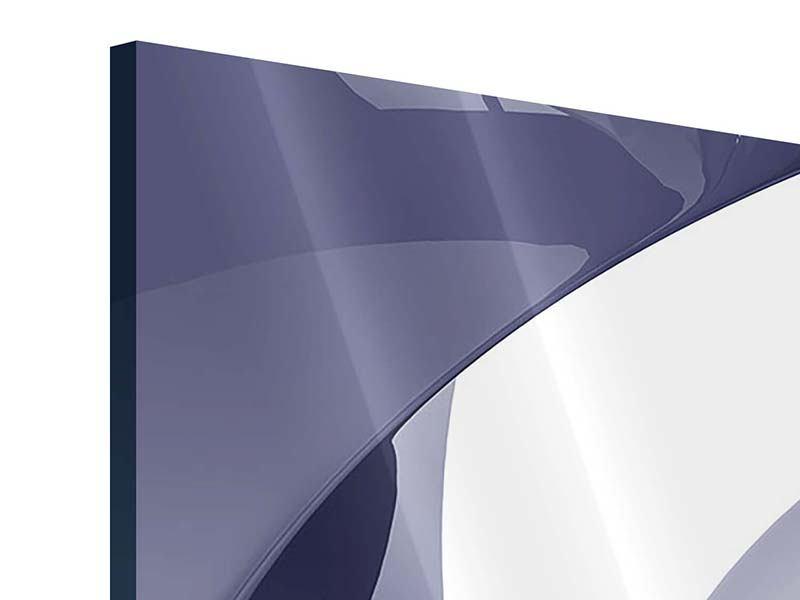 Acrylglasbild 3-teilig modern Abstrakte Schwingungen