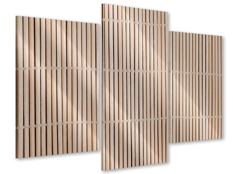 Acrylglasbild 3-teilig modern Lucky Bamboo