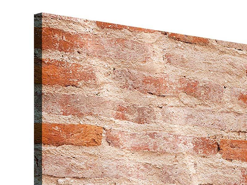 Acrylglasbild 3-teilig modern Mauerwerk
