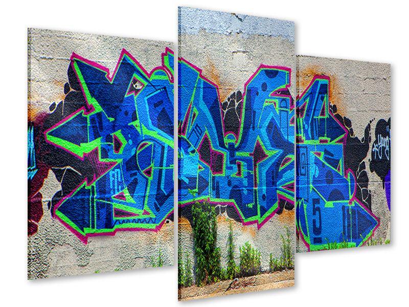 Acrylglasbild 3-teilig modern Graffiti NYC