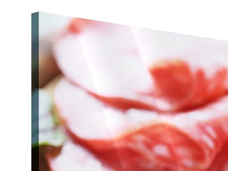 Acrylglasbild 3-teilig modern Wurstplatte