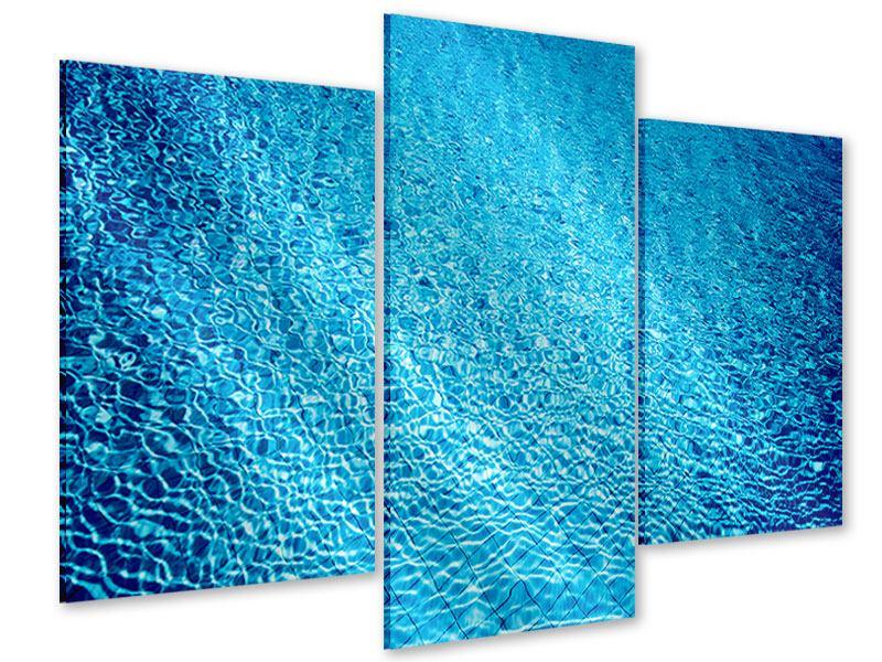 Acrylglasbild 3-teilig modern Tauchgang