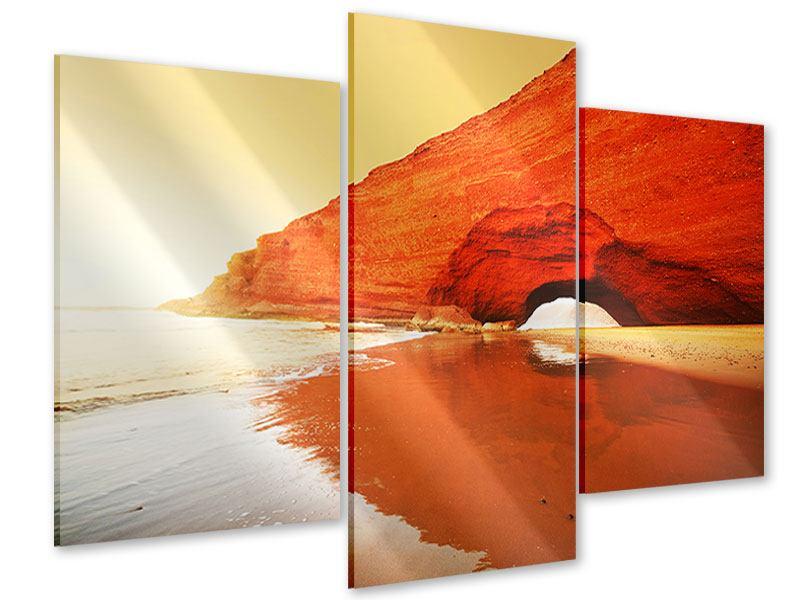 Acrylglasbild 3-teilig modern Wasserspiegelung