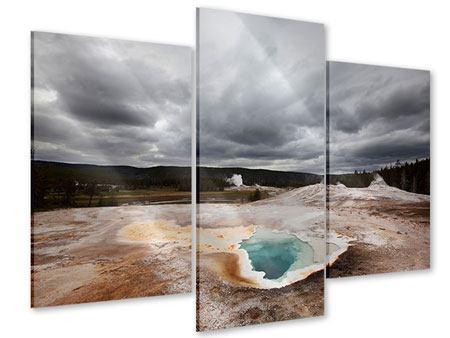 Acrylglasbild 3-teilig modern Vulkan