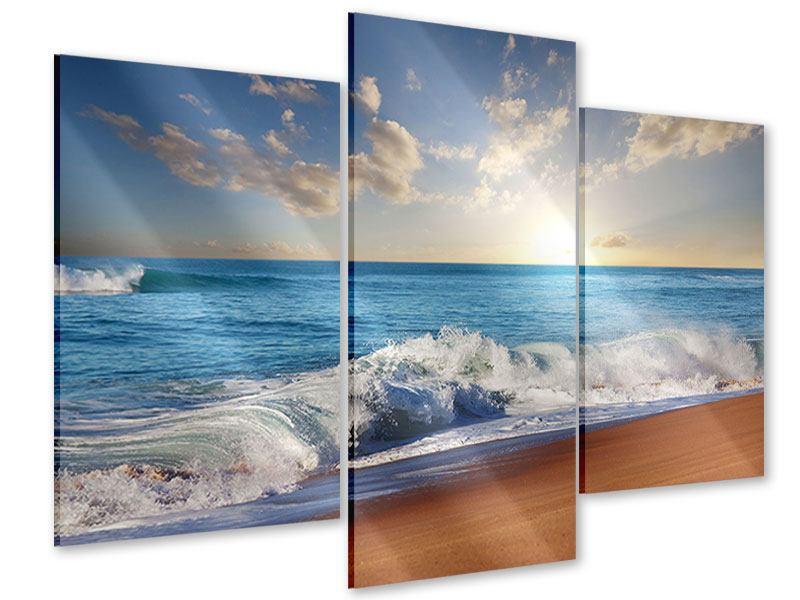 Acrylglasbild 3-teilig modern Die Wellen des Meeres