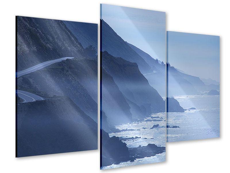 Acrylglasbild 3-teilig modern Bewegung im Wasser