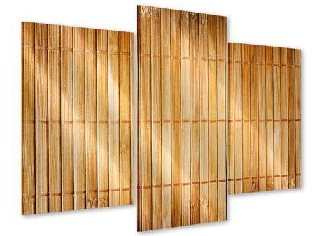 Acrylglasbild 3-teilig modern Bambusrohre