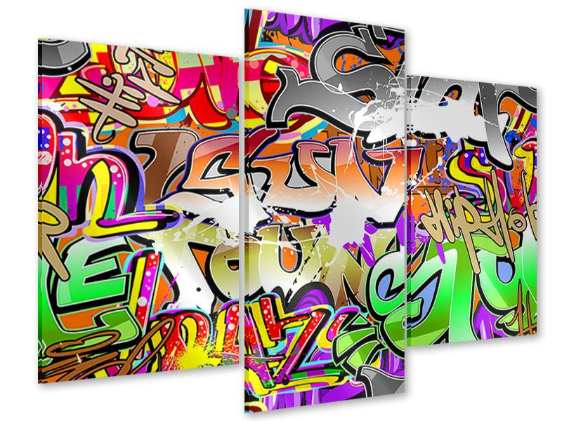 Acrylglasbild 3-teilig modern Writings