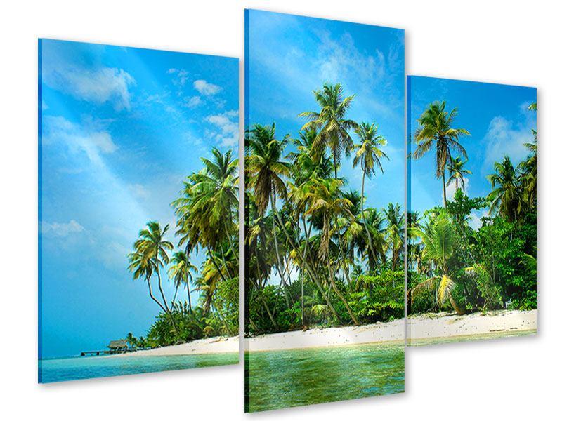 Acrylglasbild 3-teilig modern Reif für die Ferieninsel