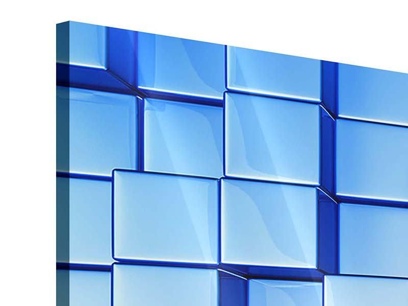 Acrylglasbild 3-teilig modern 3D-Symetrie