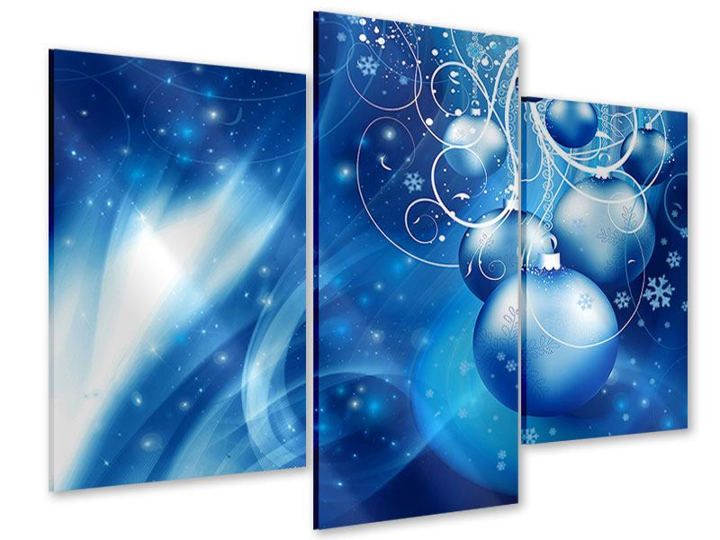 Acrylglasbild 3-teilig modern Shingle Bells