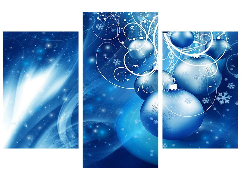 Acrylglasbild 3-teilig modern Shingle Bells