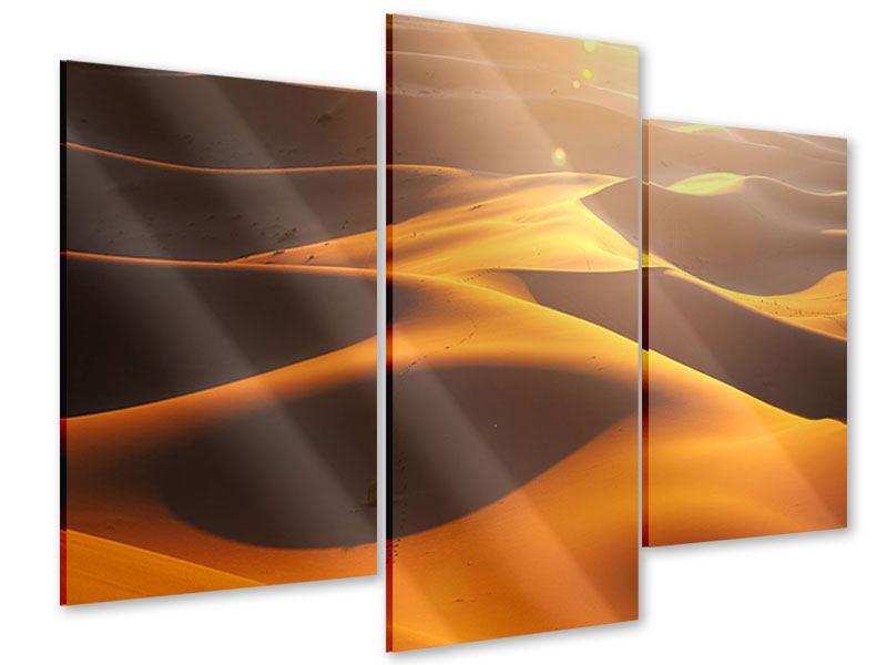 Acrylglasbild 3-teilig modern Wüstenwanderung