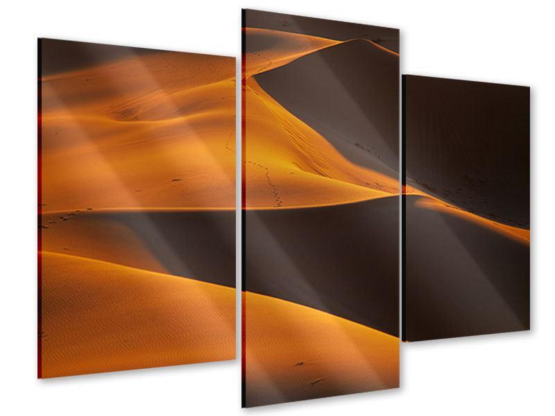 Acrylglasbild 3-teilig modern Wüstensand