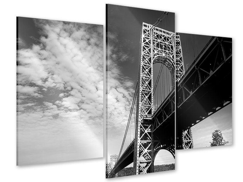 Acrylglasbild 3-teilig modern Georg-Washington-Bridge
