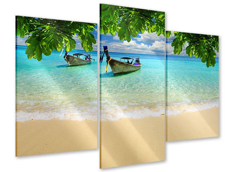 Acrylglasbild 3-teilig modern Ein Blick auf das Meer