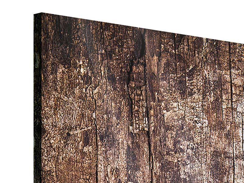 Acrylglasbild 3-teilig modern Retro-Holz
