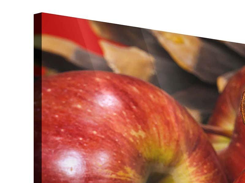 Acrylglasbild 3-teilig modern Äpfel
