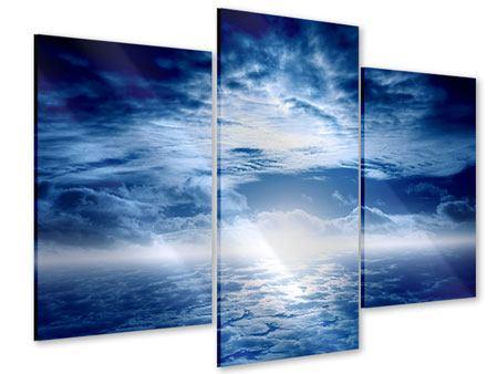 Acrylglasbild 3-teilig modern Mystischer Himmel